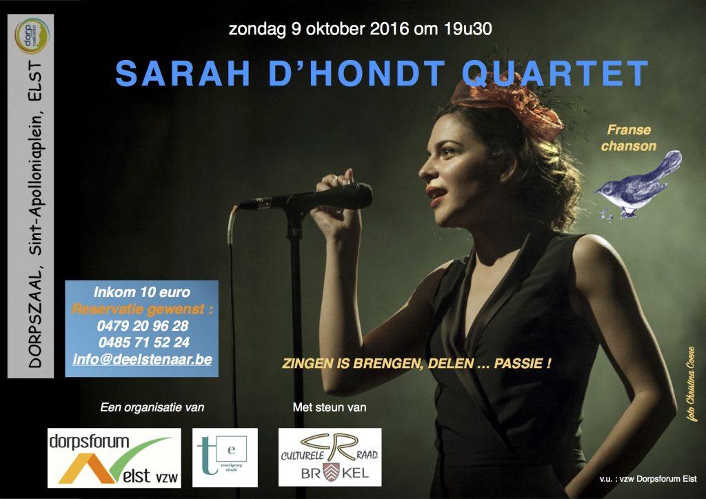 Affiche Sarah D'Hondt